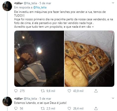 Filha publica foto de pai triste com nenhuma venda de salgados e caso viraliza; entenda 3