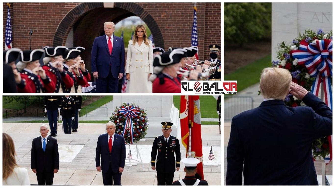 SUPROTSTAVILI SE VELIKOJ BRITANIJI: Predsjednik Tramp odao počast palim ratnicima na ceremoniji povodom 'Dana sjećanja'