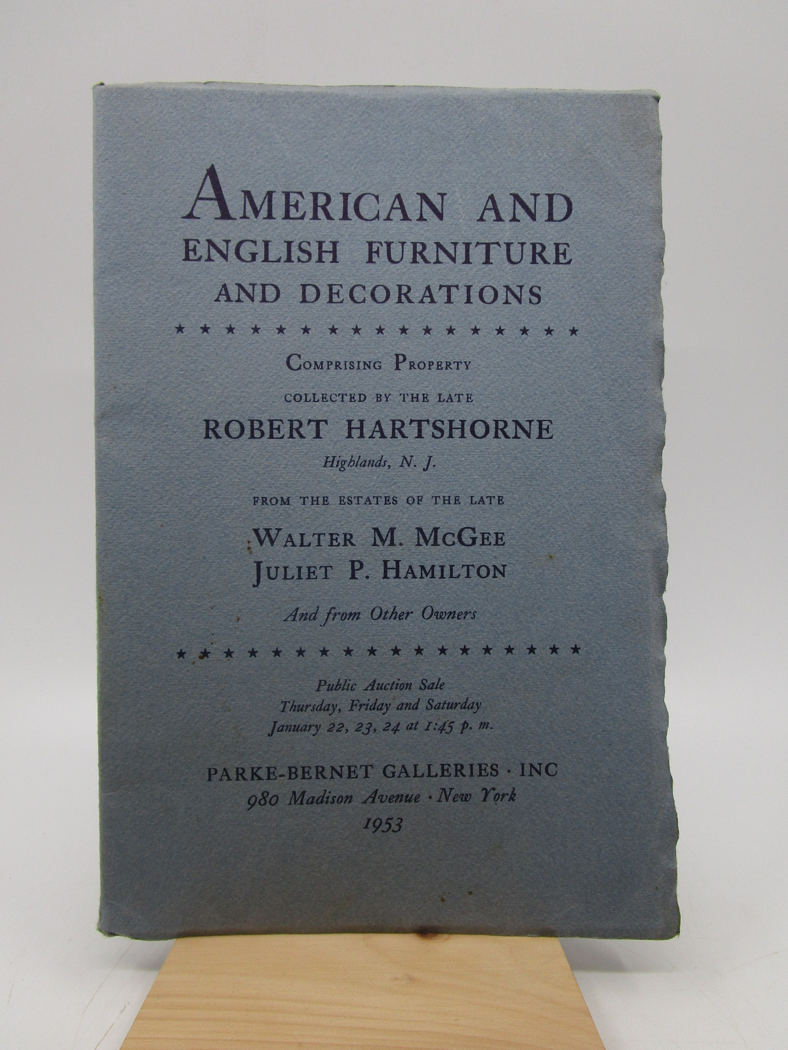 Image for American and English Furniture and Decorations...property collected by the late Robert Hartshorne