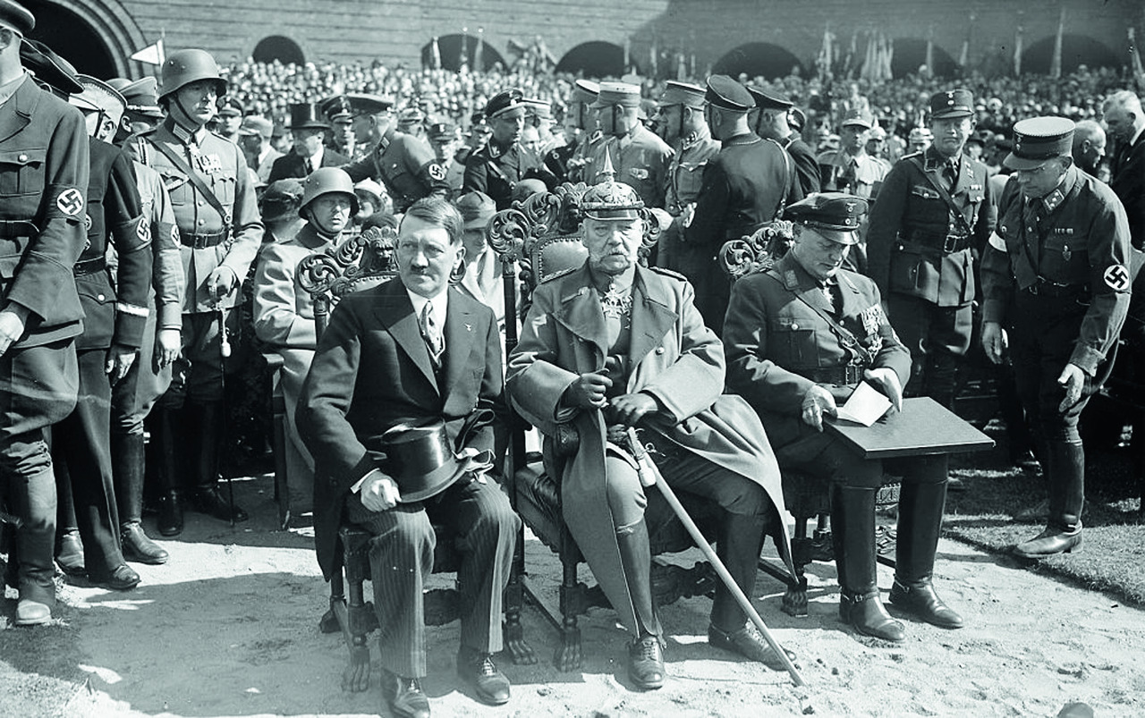 Paul von Hindenburg and Adolf Hitler