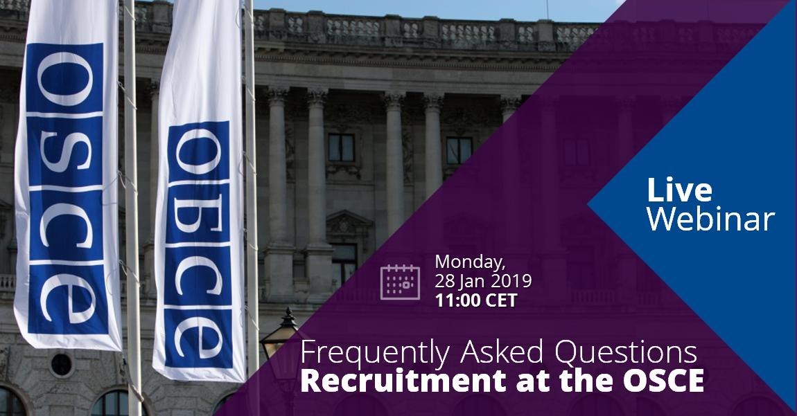 Webinar Outreach Programme | OSCE Employment