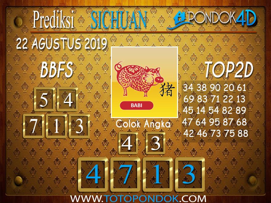 Prediksi Togel SICHUAN PONDOK4D 22 AGUSTUS 2019