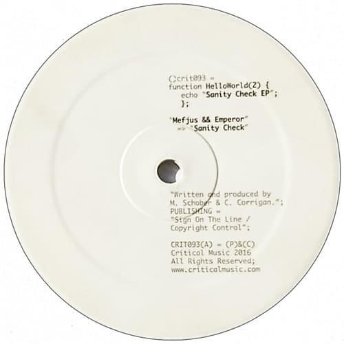 Download Mefjus & Emperor - Hello World 2: Sanity Check EP mp3