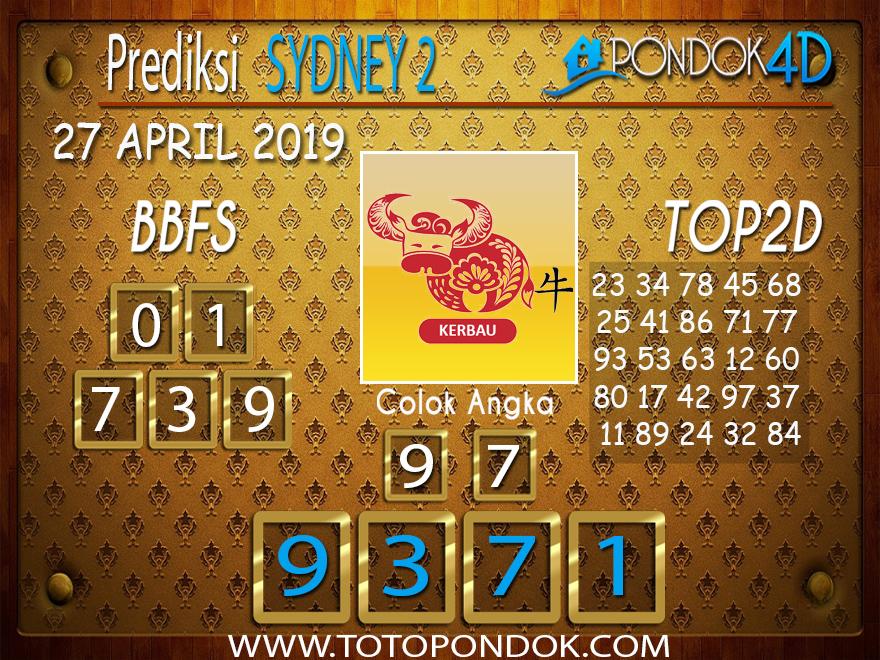 Prediksi Togel SYDNEY 2 PONDOK4D 29 APRIL 2019