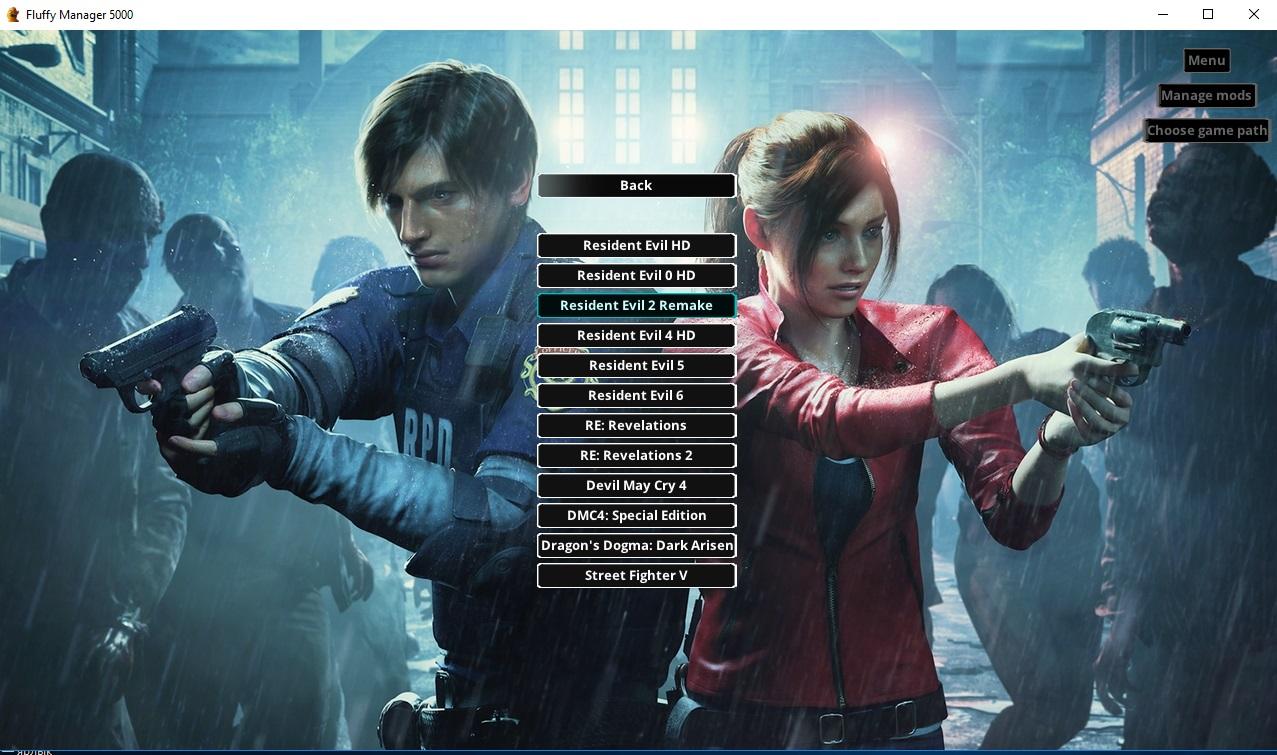 Менеджер модов для Resident Evil 2 Remake / Modding PAK files / Fluffy Manager