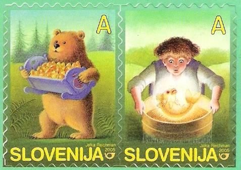 Slovenia stamps CHILD-S-BOOK-FIGURE-2005-1