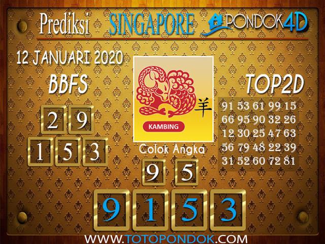 Prediksi Togel SINGAPORE PONDOK4D 12 JANUARI 2020