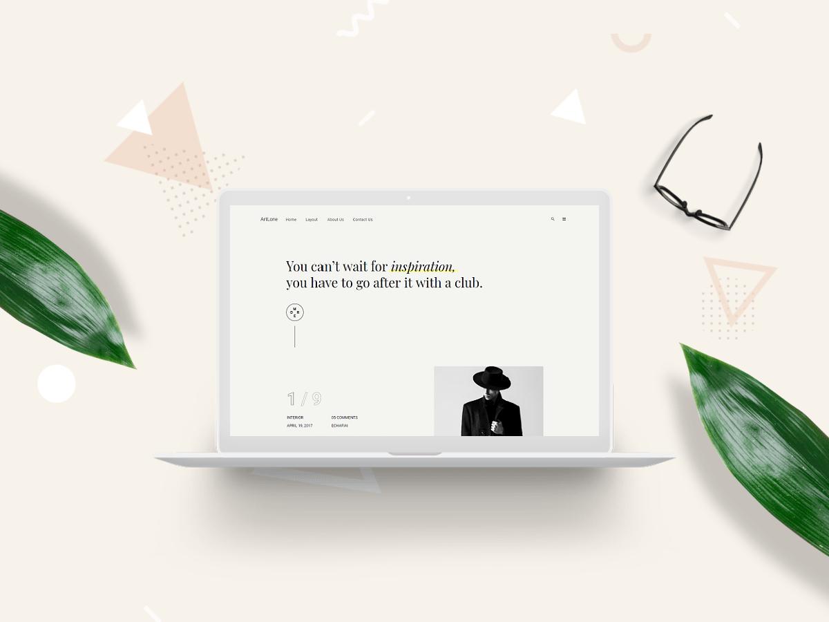 ArtLone –  Personal Blog & Magazine WordPress Theme - 1