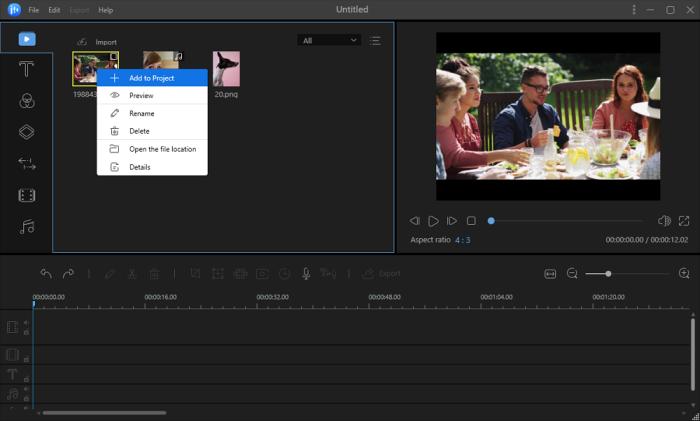 video yönü çevirme - projeye ekleme