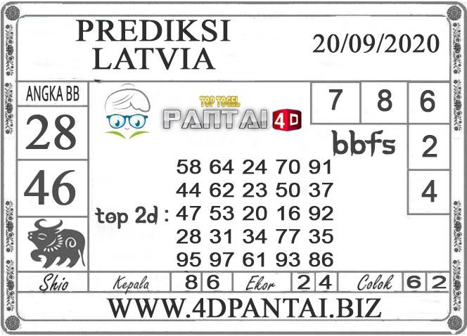 PREDIKSI TOGEL LATVIA PANTAI4D 20 SEPTEMBER 2020