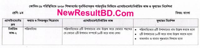 Class 9 Bangla 5th Week Assignment