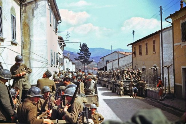 American soldiers in Italy, 1945