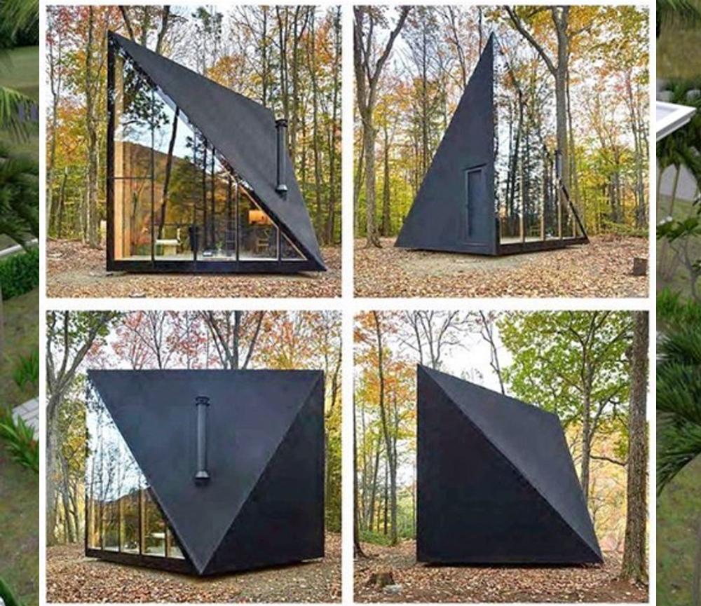 Desain Rumah Kecil dengan Tema Geometris