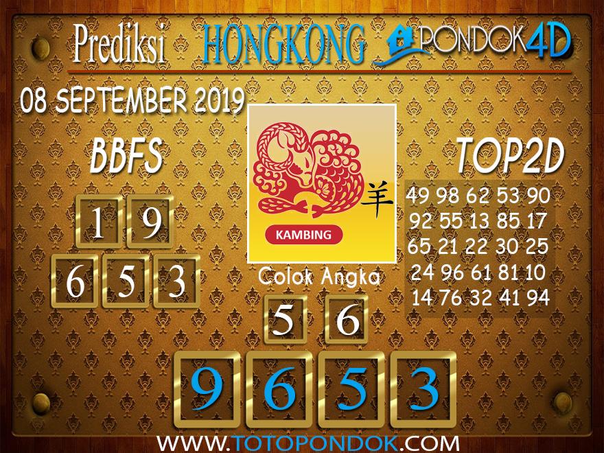 Prediksi Togel HONGKONG PONDOK4D 08 SEPTEMBER 2019