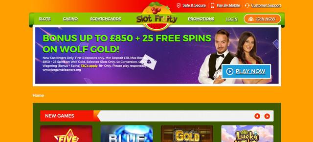 Slot-Fruity-Casino-Homepage