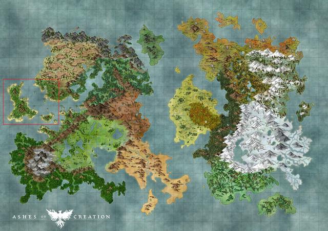 Hier die bisher einzige offizielle Karte der Spielwelt