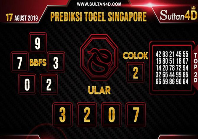 PREDIKSI TOGEL SINGAPORE SULTAN4D 17 AGUSTUS 2019
