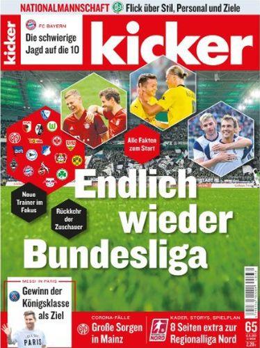 Cover: Kicker Sportmagazin No 65 vom 12  August 2021