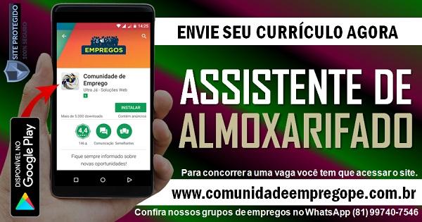 ASSISTENTE DE ALMOXARIFADO, 05 VAGAS PARA PESSOAS COM DEFICIÊNCIA
