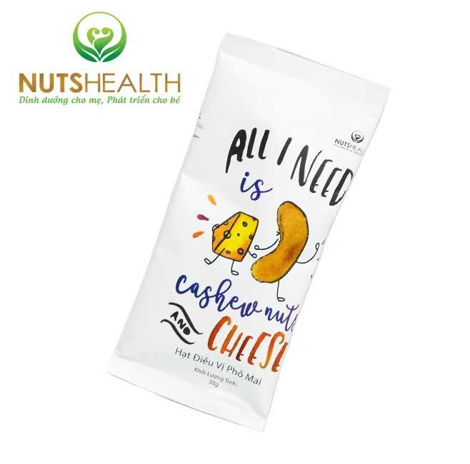 Hạt Điều vị Phô Mai – Túi – 30g – Nutshealth