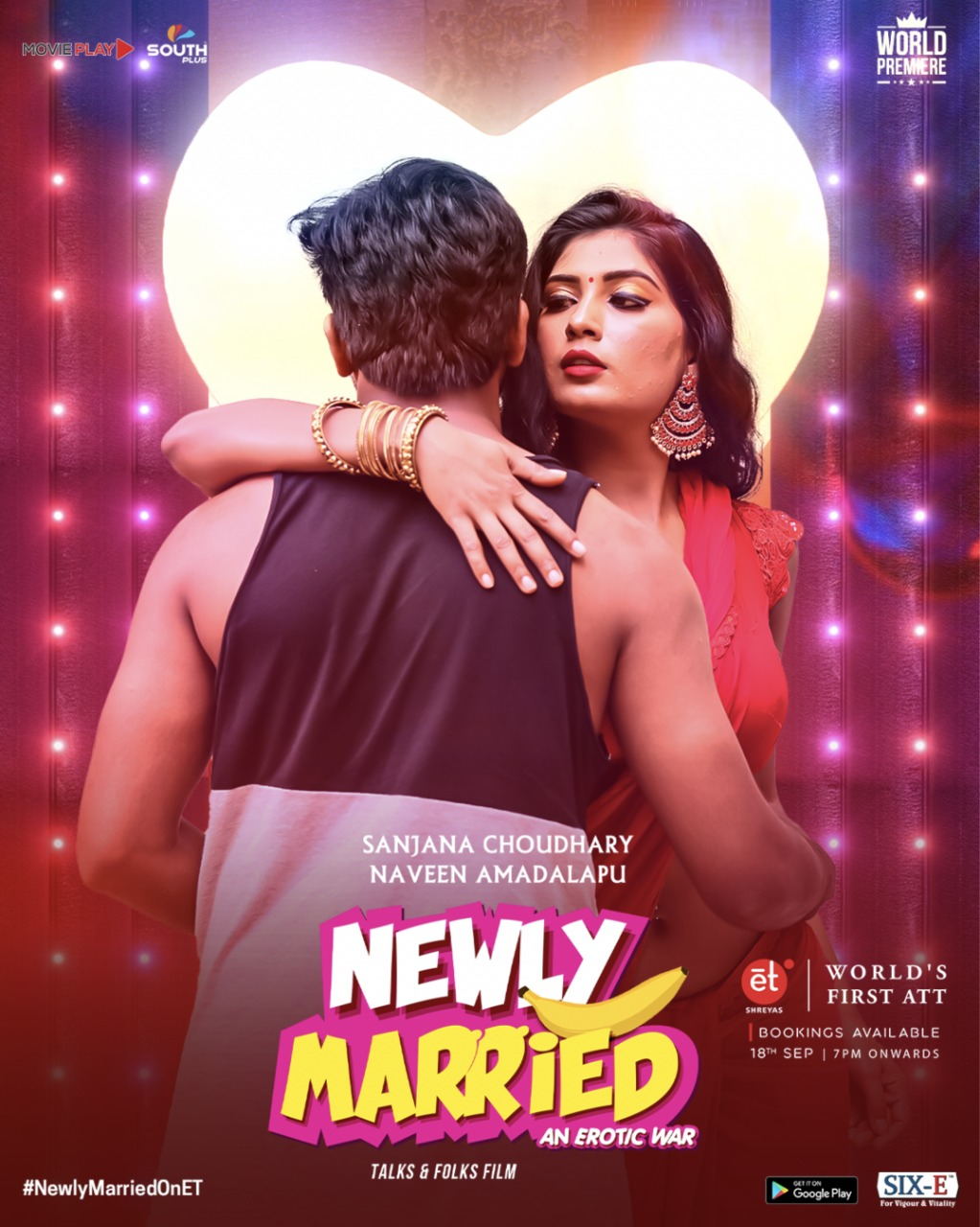 Newly Married 2020 Telugu 1080p HDRip 950MB | 200MB Download