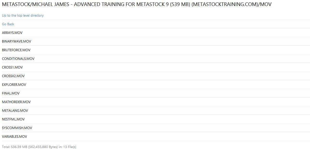 Michael James – Intermediate and advance Training for Metastock 9(SEE 2 MORE Unbelievable BONUS INSIDE!!)