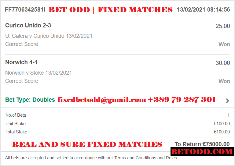 BET ODD | REAL AND SUREFIXED MATCHES