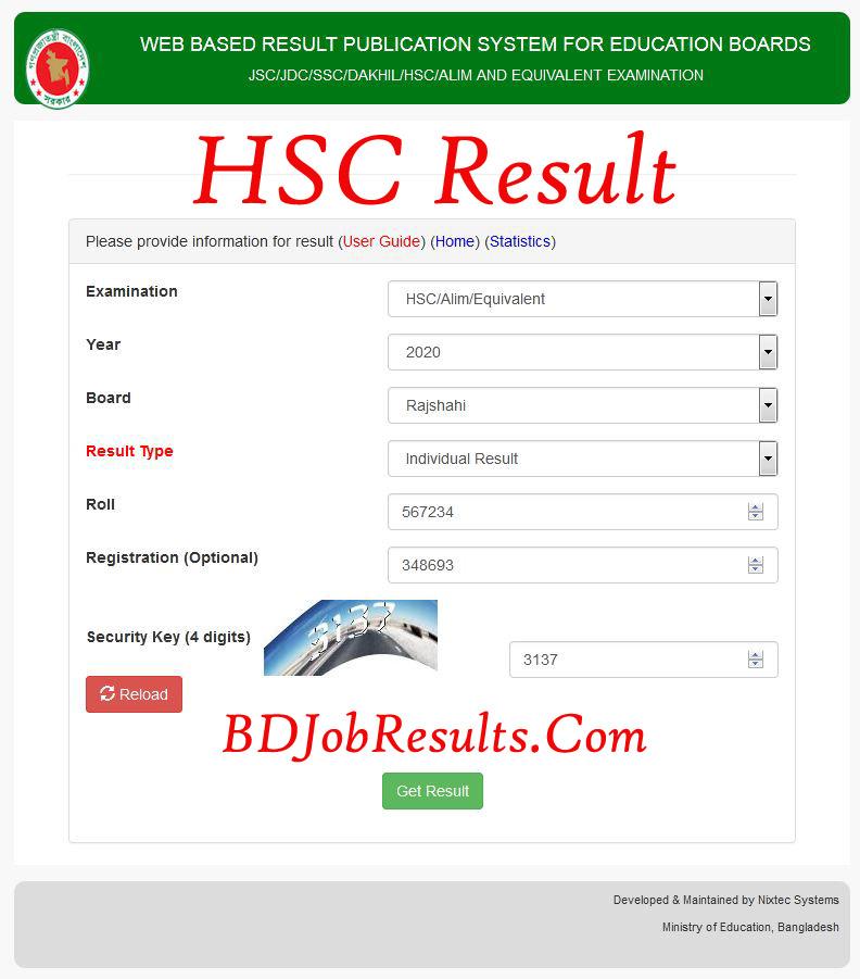 HSC Result 2021