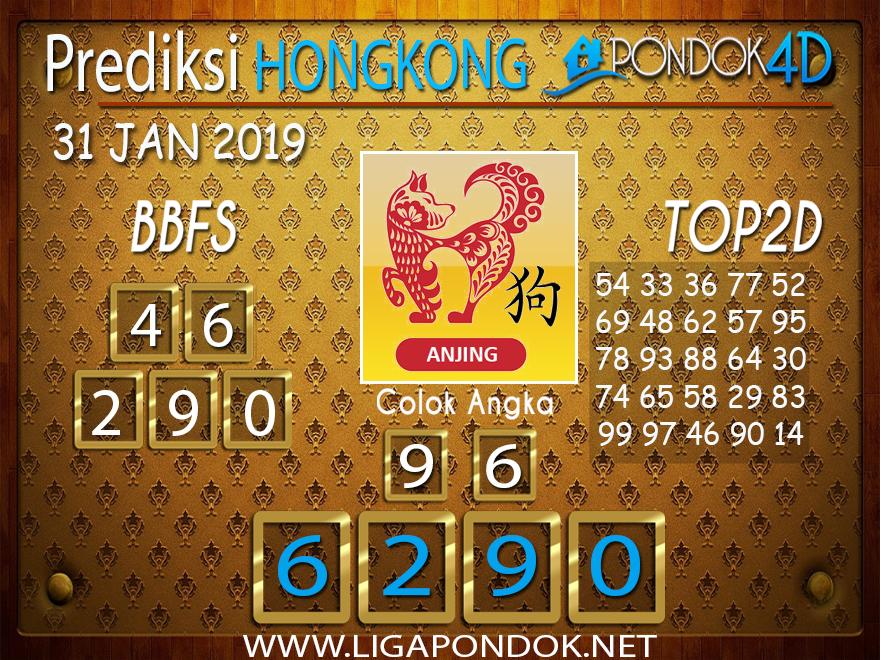 Prediksi Togel HONGKONG PONDOK4D 31 JANUARI 2019