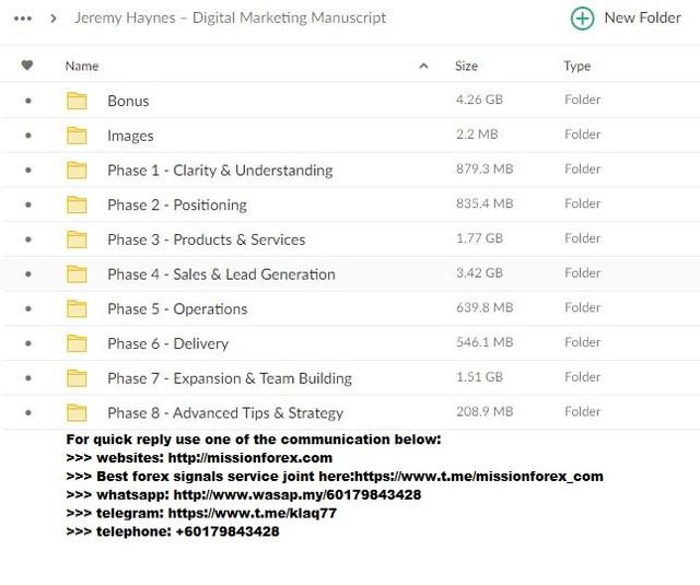 Jeremy Haynes – Digital Marketing Manuscript (Total size: 14.00 GB Contains: 15 folders 219 files).jpg