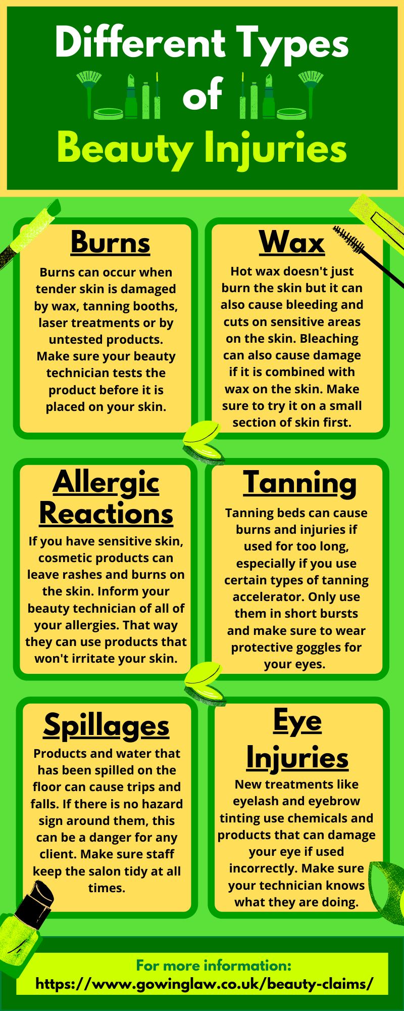 beauty injuries infographic