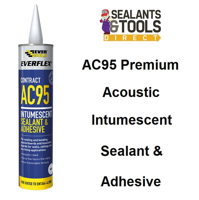 Everbuild AC95 Intumescent Acoustic Sealant Adhesive 900ml AC95900