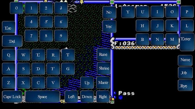 Keyboard / dialogue view