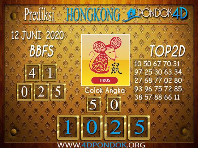 Prediksi Togel HONGKONG PONDOK4D 12 JUNI 2020