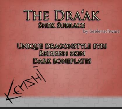 The Dra'ak (Shek Subrace) / Новая раса шеков (RU)