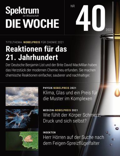 Cover: Spektrum die Woche Magazin No 40 vom 07  Oktober 2021