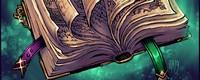 (Le Livre de Guthemberg, Familier de Ziggy ; +100, v+200 : Chaque tour, le livre magique tourne une page, octroyant un nouveau bonus à son maître uniquement, ou un malus à ses ennemis, cumulable (un ensorceleur peut contrer l'un de ces tours))