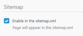 sitemap checkbox screenshot