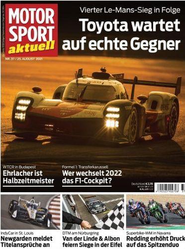 Cover: Motorsport Aktuell Magazin No 37 vom 25  August 2021