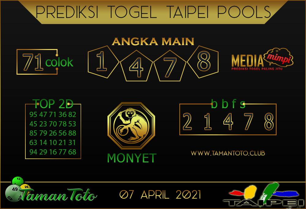 Prediksi Togel TAIPEI TAMAN TOTO 07 APRIL 2021