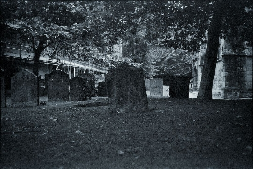 An image of tombstones in St Andrew's Churchyard © Icy Sedgwick