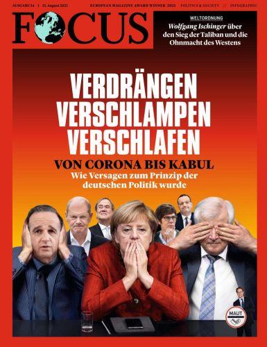 Cover: Focus Nachrichtenmagazin No 34 vom 21  August 2021