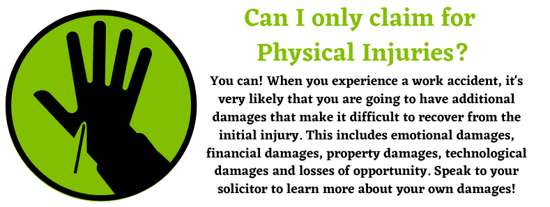 Physical Injuries for a Work Accident Compensation Claim