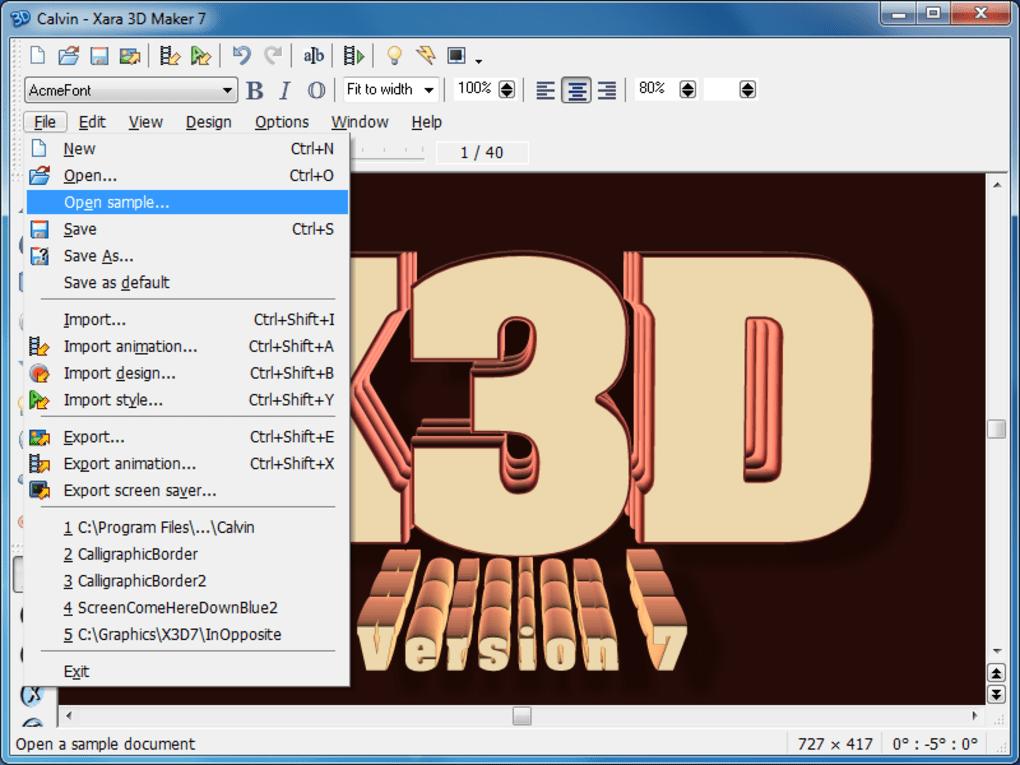 Download-xara-3d-maker-7-full