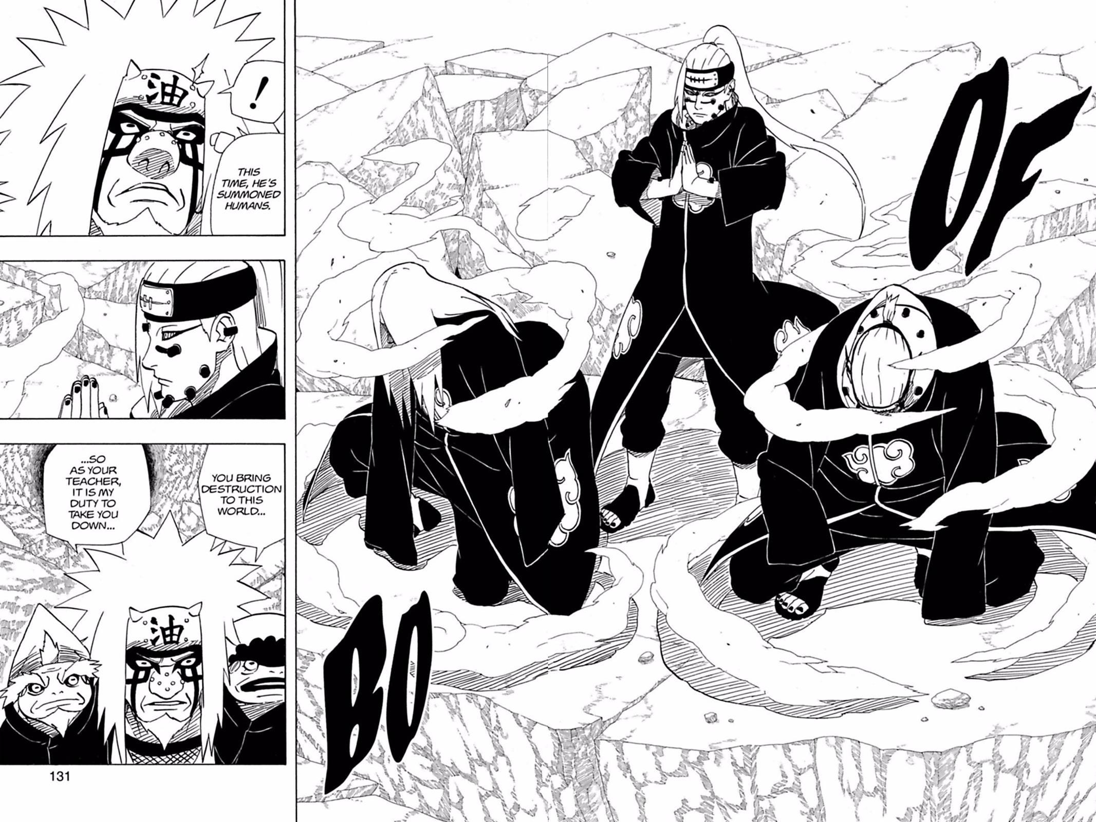O péssimo desempenho de Pain contra Naruto 0376-016