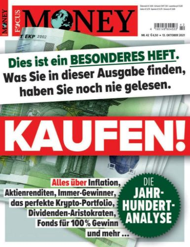Cover: Focus Money Finanzmagazin No 42 vom 13  Oktober 2021