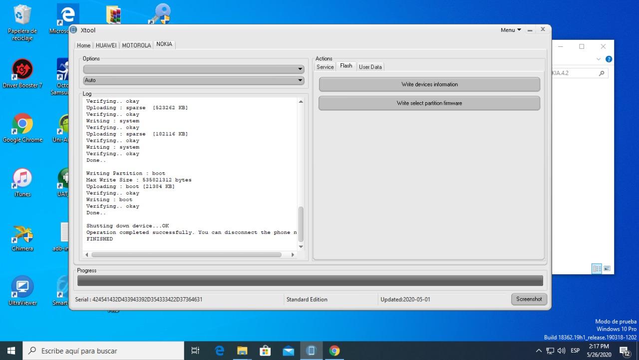 Nokia 4.2 Panther - Writing Firmware OK!