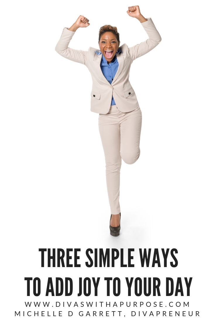 This article shares three simple ways to add joy to your day. #joy #happy