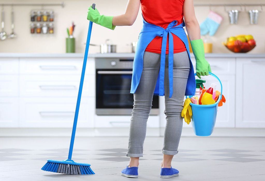 Cleaning Home With Creative Design