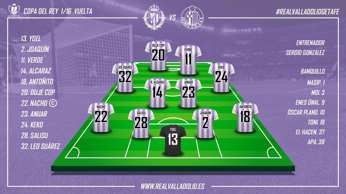 Real Valladolid - Getafe C.F. Martes 15 de Enero. 19:30 Alineacion-vs-Getafe